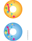 Balloons CD-DVD Labels