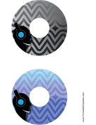 Black Blue Headphones Music CD-DVD Labels