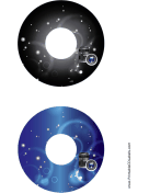 Black Blue Lenses Photography CD-DVD Labels