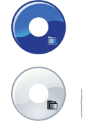 Blue Gray Folder Backups CD-DVD Labels