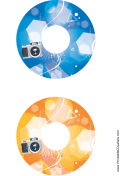 Blue Orange Camera Photography CD-DVD Labels