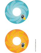 Blue Orange Harddrive Backups CD-DVD Labels