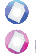 Blue Pink Large Document Backups CD-DVD Labels