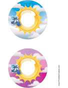 Blue Pink Sunburst Photography CD-DVD Labels