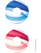 Blue Red Bold Software CD-DVD Labels