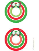 Bow Christmas CD-DVD Labels