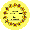 Country Sunflower (Round) Canning Label