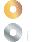 Gold Silver Digital Software CD-DVD Labels