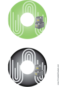 Green Black Filing Boxes Backups CD-DVD Labels