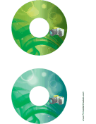 Green SLR Photography CD-DVD Labels