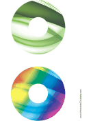 Green Rainbow Bold Software CD-DVD Labels