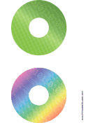 Green Rainbow Digital Software CD-DVD Labels