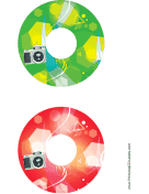 Green Red Camera Photography CD-DVD Labels