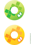 Green Yellow Documents Backups CD-DVD Labels