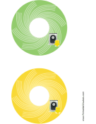 Green Yellow Harddrive Backups CD-DVD Labels