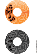 Orange Black Stripes Music CD-DVD Labels