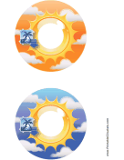 Orange Blue Sunburst Photography CD-DVD Labels