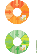 Orange Green Envelope Backups CD-DVD Labels