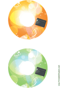 Orange Green Pouch Backups CD-DVD Labels