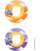 Orange Purple Sunburst Photography CD-DVD Labels