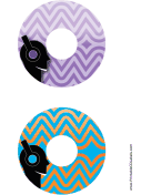 Purple Blue Headphones Music CD-DVD Labels