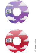 Purple Red Clouds Photography CD-DVD Labels