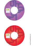 Purple Red JPG Backups CD-DVD Labels