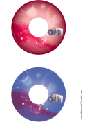 Red Blue SLR Photography CD-DVD Labels