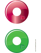 Red Green Folder Backups CD-DVD Labels