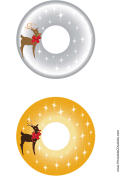 Reindeer Christmas CD-DVD Labels