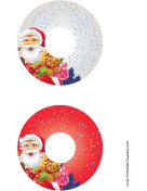 Santa Christmas CD-DVD Labels
