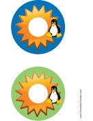 Starburst Linux CD-DVD Labels