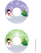 Top Hat Snowman Christmas CD-DVD Labels
