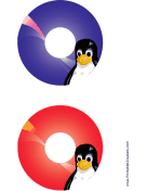 Tux Linux CD-DVD Labels