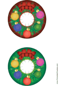 Wreath Christmas CD-DVD Labels