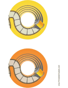 Yellow Orange Film Photography CD-DVD Labels