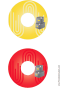 Yellow Red Filing Boxes Backups CD-DVD Labels