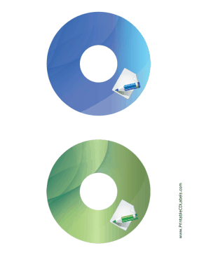 Printable Blue Green Notepad Backups CD-DVD Labels