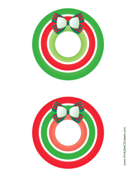 Printable Bow Christmas CD-DVD Labels