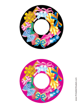 Printable Bows CD-DVD Labels