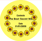 Printable Country Sunflower (Round) Canning Label