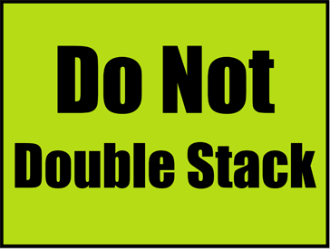 Printable Do Not Double Stack Sign