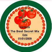 Printable Tomatoes (Round) Canning Label