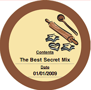 Printable Cookie Mix (Round) Canning Label