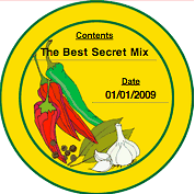 Printable Spices (Round) Canning Label