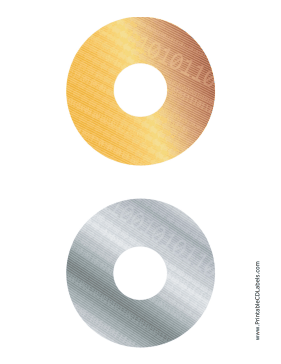 Printable Gold Silver Digital Software CD-DVD Labels