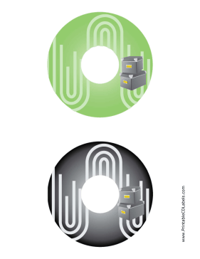 Printable Green Black Filing Boxes Backups CD-DVD Labels