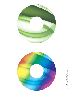 Printable Green Rainbow Bold Software CD-DVD Labels