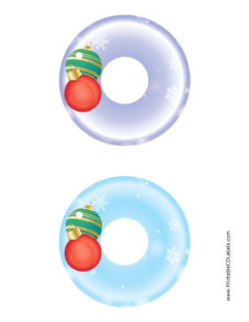 Printable Ornaments Christmas CD-DVD Labels