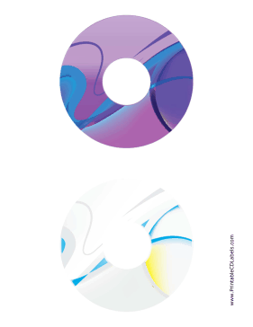 Printable Purple Gray Abstract Software CD-DVD Labels
